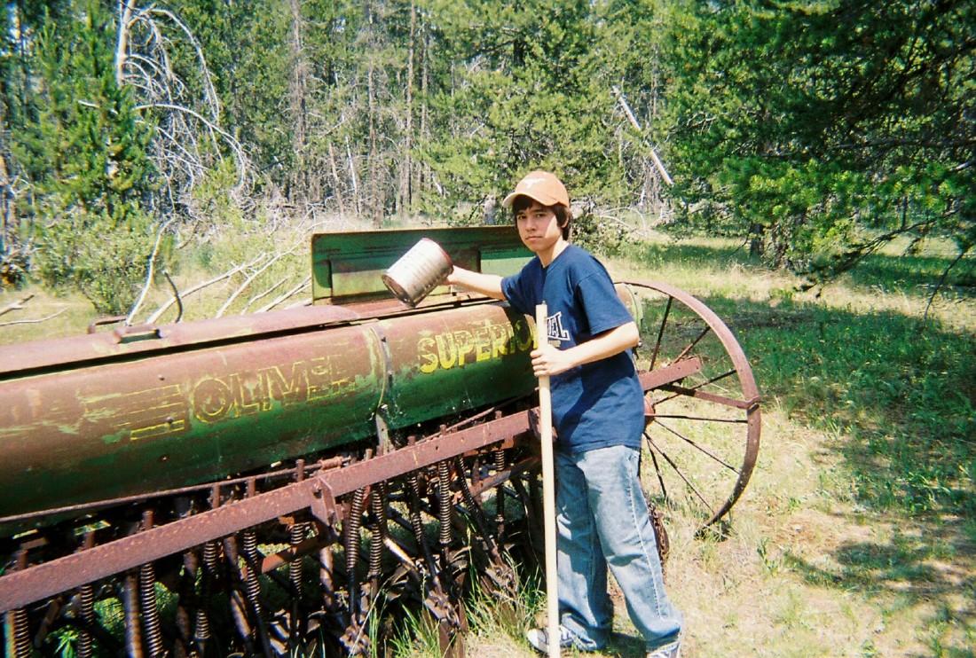 A geocache in Montana
