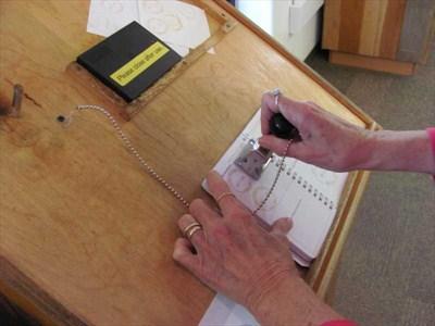 Stamping the passport
