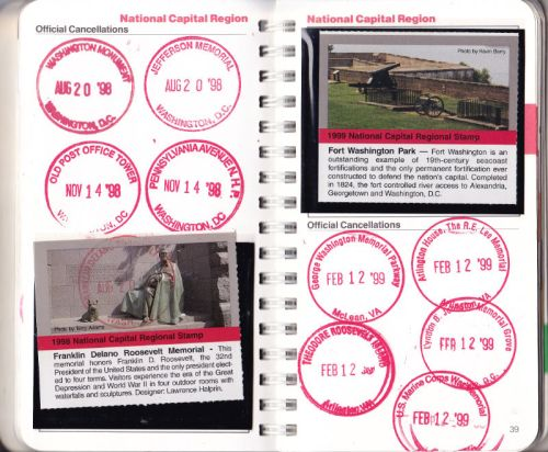 A page of an NPS passport