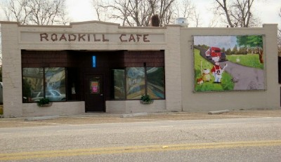 The outside of the Roadkill Cafe.