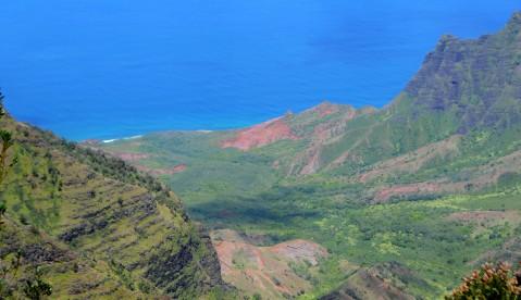 Wai'ali'ali Gorge in Kauai, HI