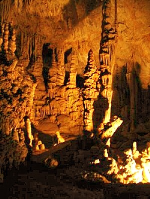 View inside the caverns
