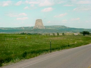 Distant view of Devils Tower
