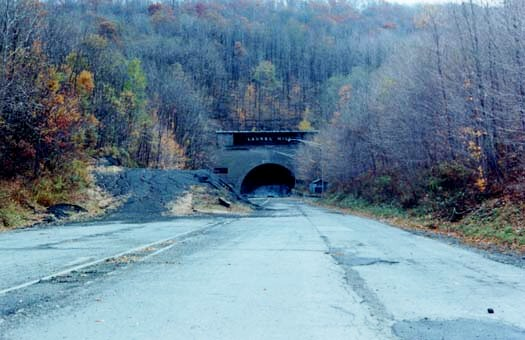 The abandoned Laurel Hill Tunnel