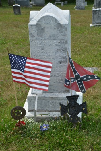 Confederate soldier grave.