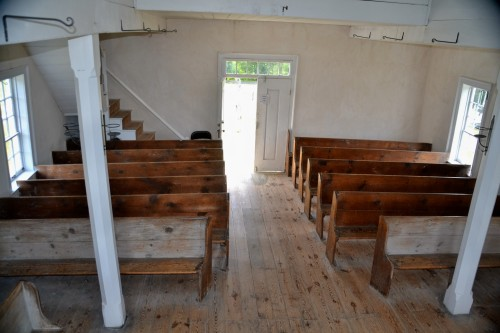 Pews at the Old Log Church