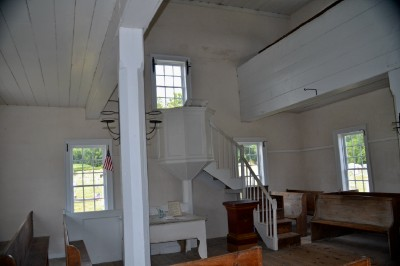 Inside the Old Log Church