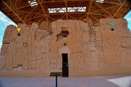 West wall of Casa Grande