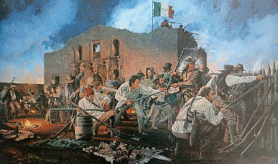 Painting of the Alamo