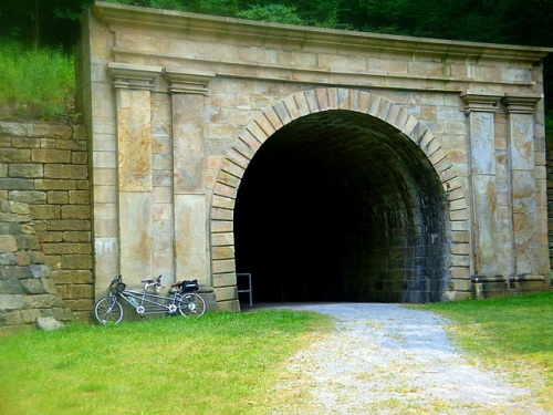 Southwest portal of the Staple Bend Tunnel