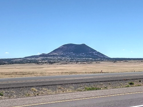 Distant view of Capulin Volcano