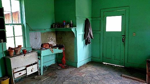 The dilapidated kitchen