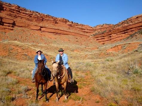 Caching on horseback.