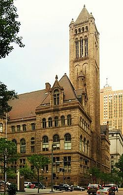 The Allegheny County Courthouse in Pittsburgh.