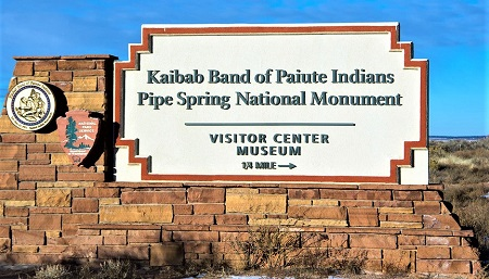 Entrance to the Pipe Spring National Monument