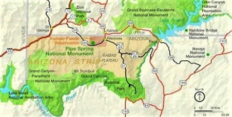 Map of the Arizona Strip